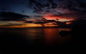 Sunset Clouds & Dark Ocean wallpapers