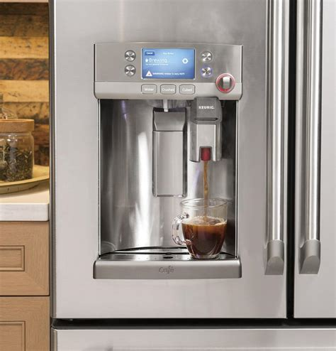 cafe cyeushss   smart stainless steel counter depth french door refrigerator