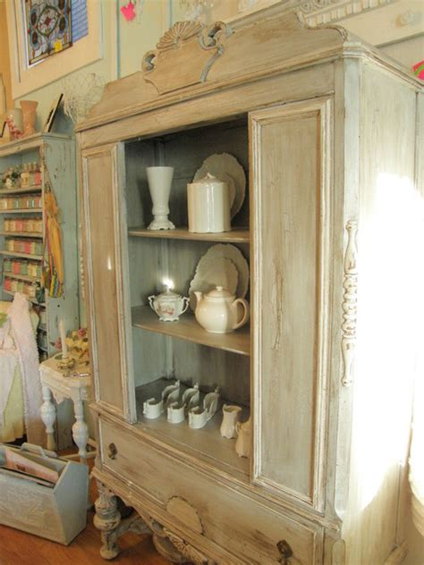shabby chic dining room hutch distressed antique china cabinet shabby chic