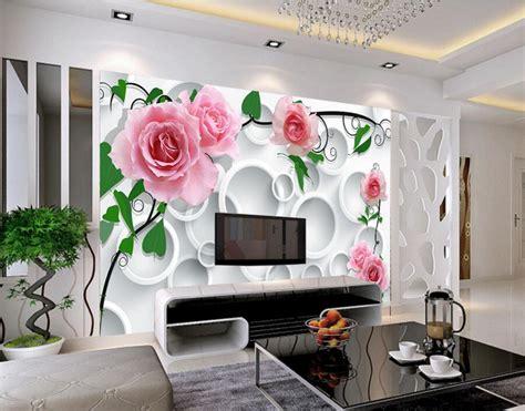 custom modern wallpaper designcircle background rose