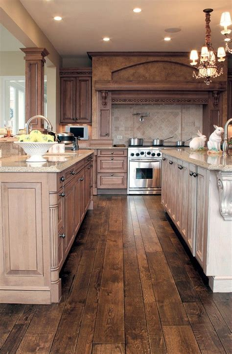 wood kitchen floor 30 stunning kitchen designs smooth oak hardwood 1141