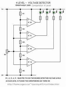 4 Level Voltage Detector - Measuring And Test Circuit - Circuit Diagram