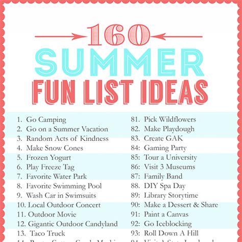 summer ideas 160 summer fun list ideas the crafting chicks