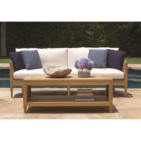 brown jordan marin wood outdoor sofa overstockcom