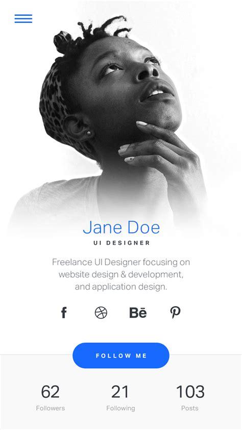 user profile  images app design inspiration