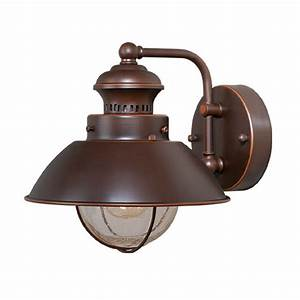 shop cascadia lighting nautical 8 in h burnished bronze With nautical outdoor deck lighting