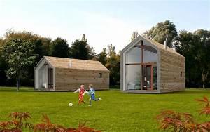 Maison Préfabriquée En Bois : maison pr fabriqu e contemporaine ossature bois ~ Premium-room.com Idées de Décoration