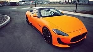 Beautiful Orange Convertible Maserati Wallpapers And