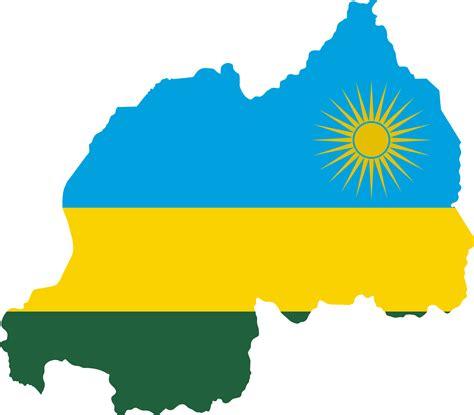 Clipart - Rwanda Flag Map