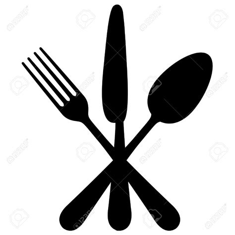 fork and knife clipart black and white fork clipart crossed pencil and in color fork clipart