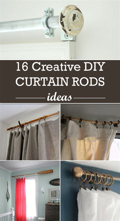 hanging curtains without a rod ideas 16 creative diy curtain rods ideas