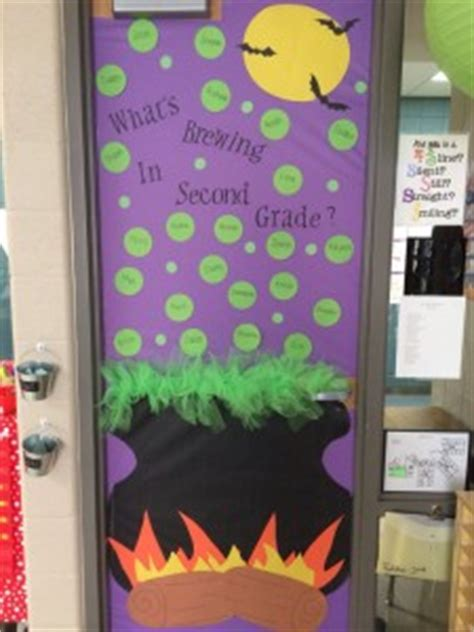 door decoration idea crafts and worksheets for 198 | Halloween classroom door decoration 225x300