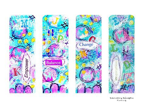 free printable bookmarks free printable mixed media bookmarks atop serenity hill