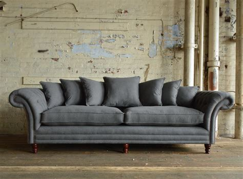 grey leather chesterfield sofa chesterfield grey sofa francis drake chesterfield grey