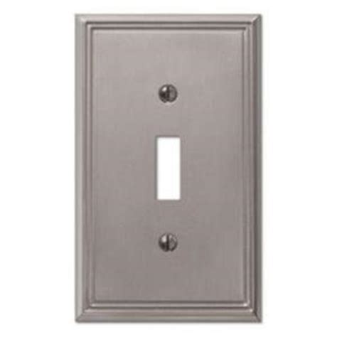 creative accents wall plates creative accents metro line 1 toggle wall plate brushed
