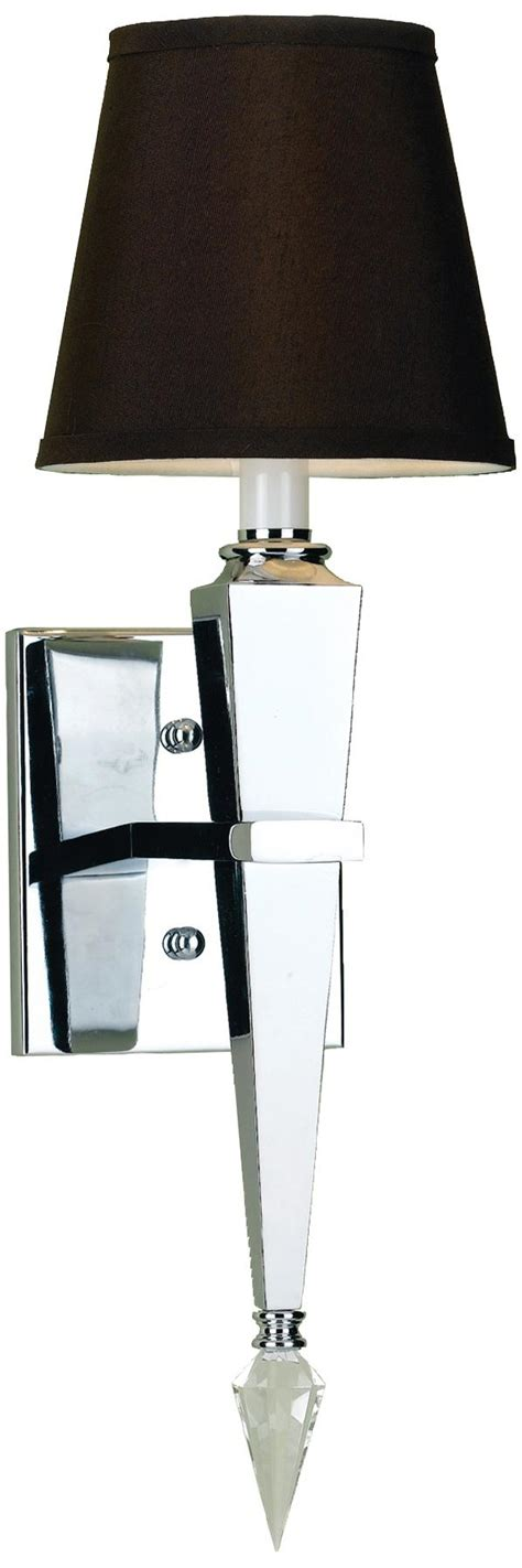 wall sconce l shade sconce chrome wall sconce with black shade black wall
