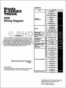 2004 Mazda B Series Pickup Truck Wiring Diagram Original B230b300b4000