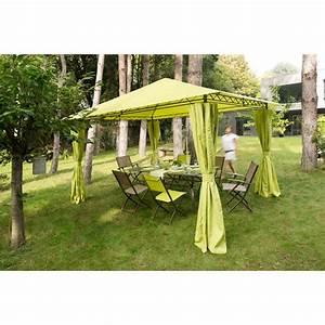 Tonnelle De Jardin 3x3 : 4 rideaux pour tonnelle prado tonnelle parasol ~ Nature-et-papiers.com Idées de Décoration