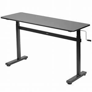Manual Crank Stand Up Height Adjustable Desk Frame