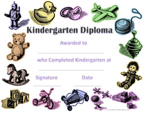 custom kindergarten graduation certificates
