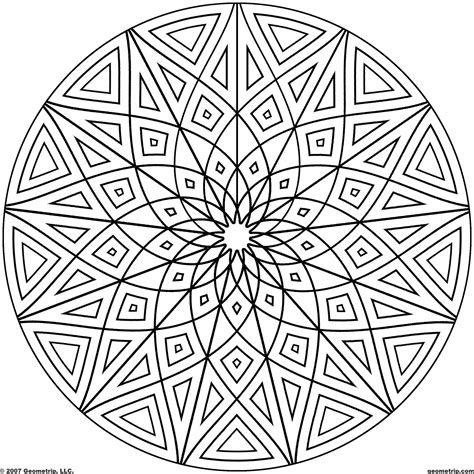 Geometric Design Coloring Pages Geometric Patterns For To Color Coloring Pages For