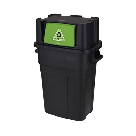 rubbermaid garbage shed rubbermaid 36 5 gal stackable indoor recycling bin