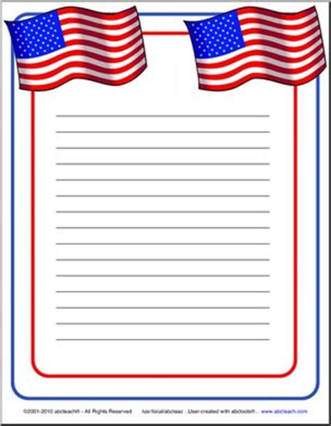 Writing A Paper About Americans by 4 Best Images Of Free Printable Patriotic Writing Paper
