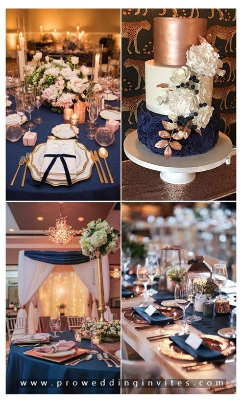glamorous rose gold wedding color schemes
