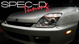 Specdtuning Installation Video  1997-2001honda Prelude Headlights