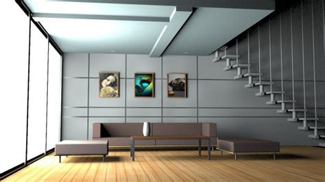 House Interior  3d Model  Obj, Max