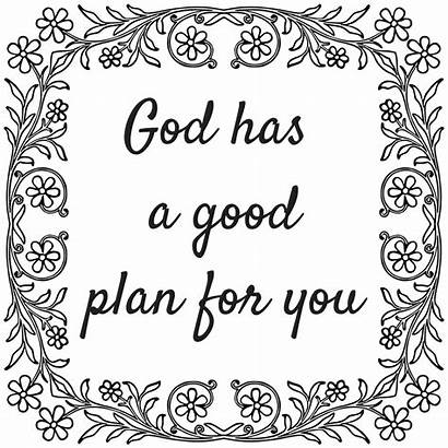 Coloring Pages God Plan Christian Let Quotes
