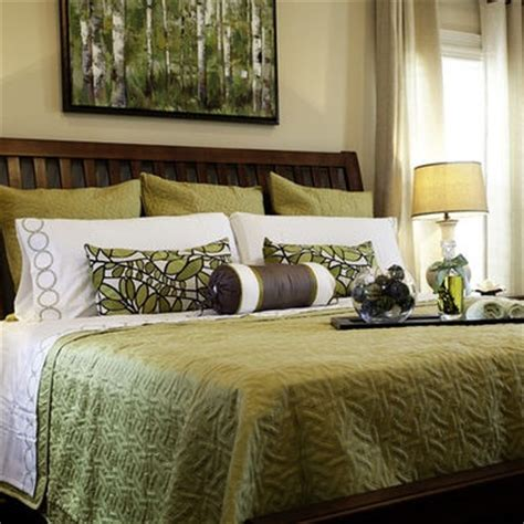 White Green Brown Tan Bedroom Design, Pictures, Remodel