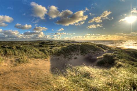 sand dune  north sea coast denmark  large dunes