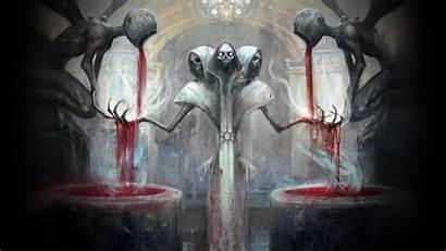 Creepy Magic Skull Fantasy Surreal Death Skeleton