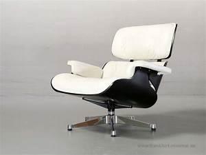 Eames Chair Weiß : original eames vitra lounge chair schwarz weiss ~ Markanthonyermac.com Haus und Dekorationen