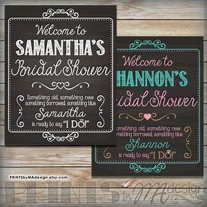 bridal shower sign personalized bridal shower welcome With chalkboard wedding shower signs