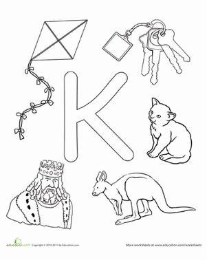 k is for worksheet education 204 | the alphabet letter k preschool