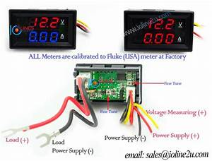 0 Uff5e50v Dc Dual Display Voltmeter Current Meter 10a Ammeter
