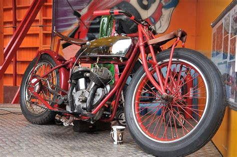 Indian Motorcycle Used In The Wall Of Death