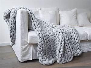 Tricoter Un Plaid En Grosse Laine : couette tricot grosse maille i love tricot ~ Melissatoandfro.com Idées de Décoration