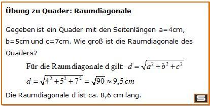 wuerfel und quader formel berechnen mit  rechner