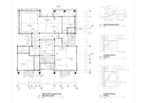 contoh gambar kerja rumah biro arsitek interior
