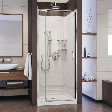 shower kit dreamline flex 32 in x 32 in x 76 75 in pivot shower