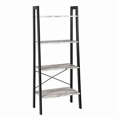 Living Shelves Furniture Songmics Ladder Bookcase Tier