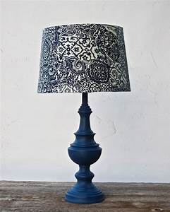table lamp navy blue nautical napoleonic cottage chic With blue lamp and light shade