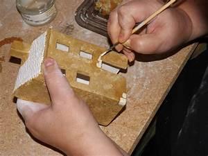 Maison De Noel Miniature : maison c ramique village cr che miniature santon provence proven al biscuit d corer peindre ~ Nature-et-papiers.com Idées de Décoration