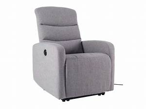 Fauteuil Electrique Conforama : fauteuil de relaxation lectrique bob coloris gris vente de tous les fauteuils conforama ~ Teatrodelosmanantiales.com Idées de Décoration