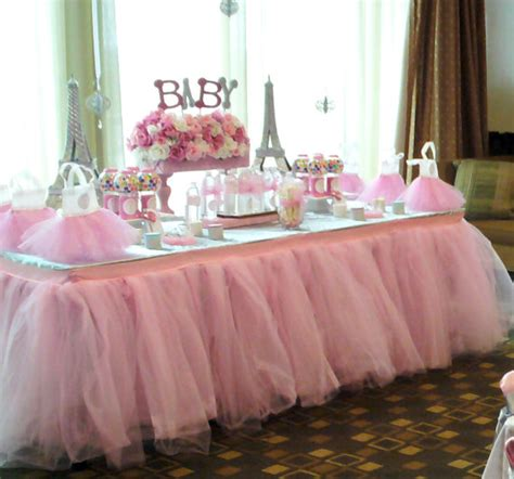 baby shower table tutu table skirt custom made wedding birthday baby shower by bailey had a party catch my party