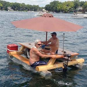 Awesome Redneck Moment: The Redneck Pontoon Picnic Table