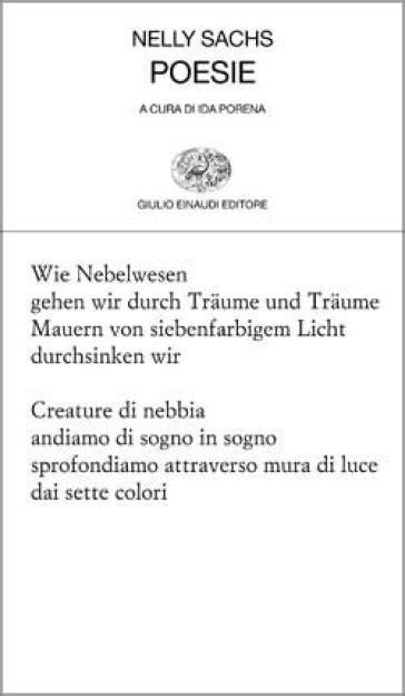 Testo In Tedesco Poesie Testo Tedesco A Fronte Nelly Sachs Libro